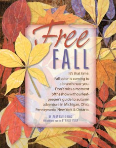 Free Fall Cover Page from Lake Erie Living magazine