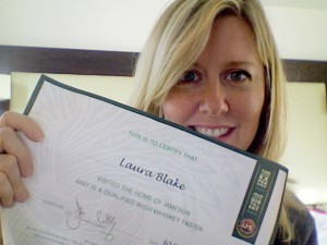 Certificate from the Jameson Distillery