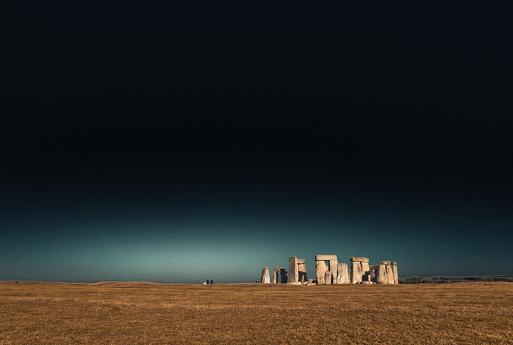 The ancient site stands in a field in rural U.K.