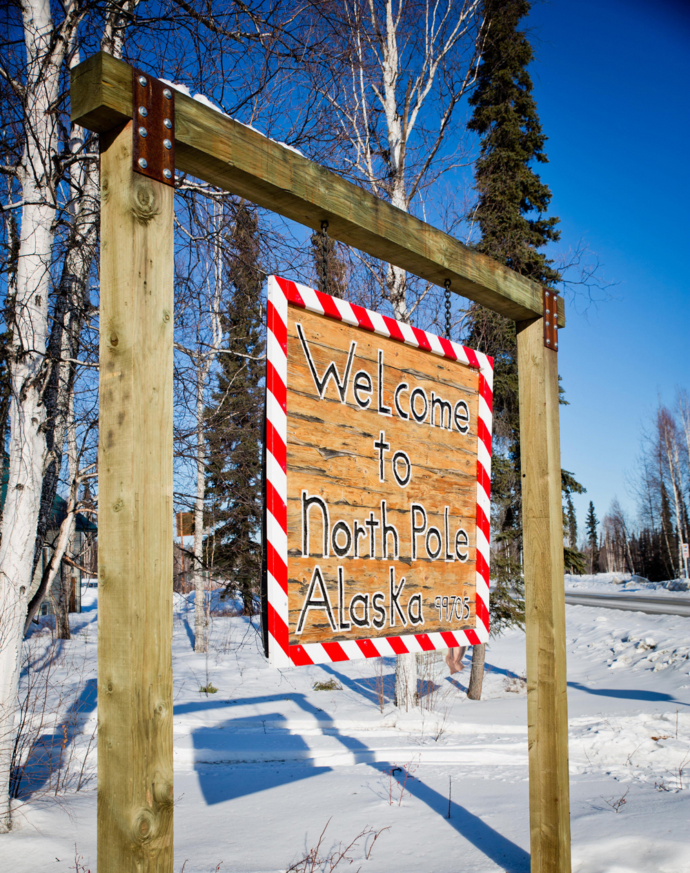 Welcome to North Pole, Alaska