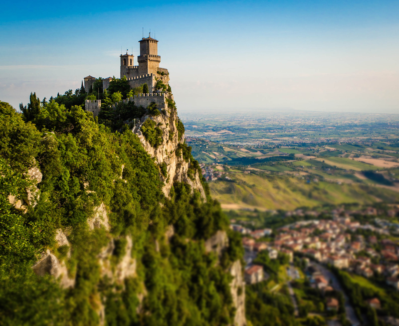 Guaita is the most iconic of the three towers  constructed on San Marino's Monte Titano