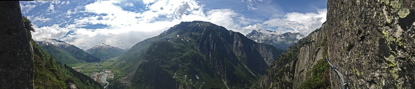 The view of the Swiss Alps from the Via Ferrata Diavolo.