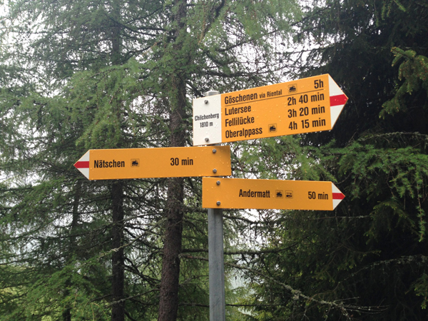 When in doubt, follow the signs to Andermatt.