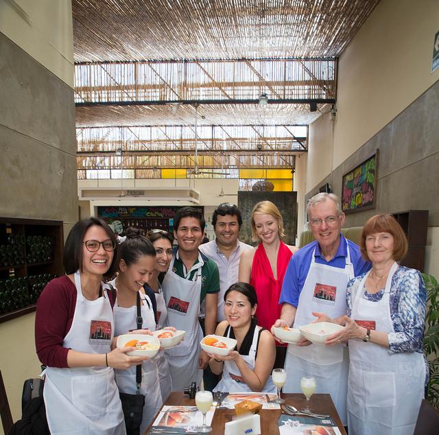 Lima Gourmet Food Tour participants